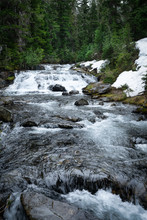 Water Fall On Mt Rainer