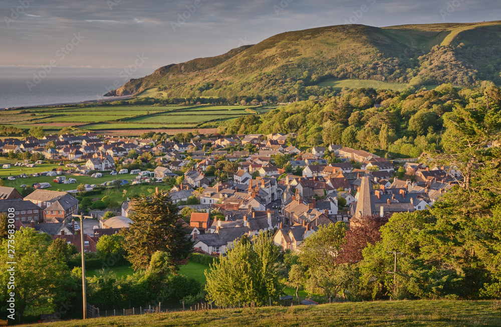 Fototapety, obrazy: View of Porlock, Exmoor National Park, Somerset