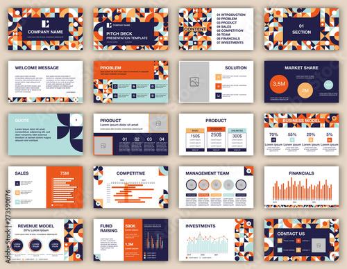 Pitch deck presentation design template Wallpaper Mural