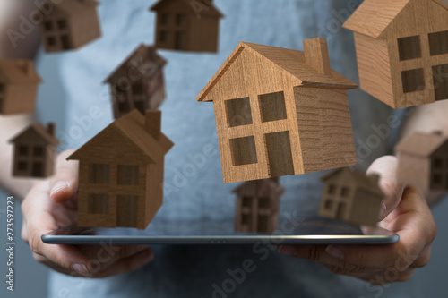 real estate concept, buying affordable housing