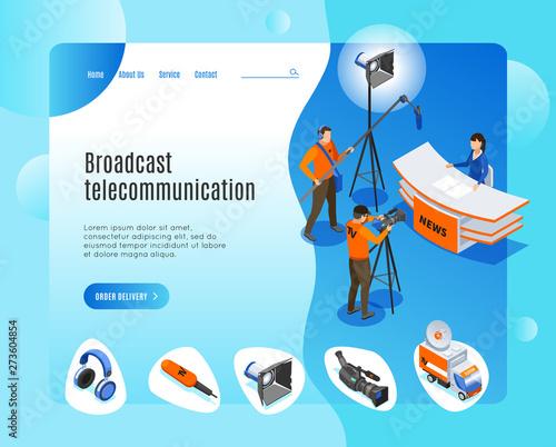 Photo Broadcast Telecommunication Landing Page
