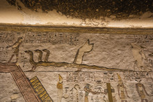 Close Up Of Apophis In The Tomb Of Ramesses III