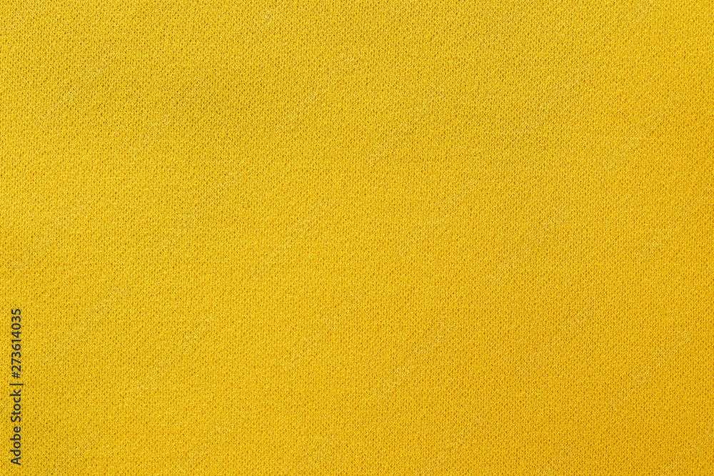 Fototapety, obrazy: Yellow fabric texture background, seamless pattern of natural textile surface.