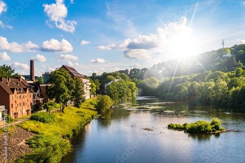 Essen Werden an der Ruhr im Sonnenlicht
