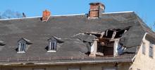 Panorama Dach Nach Einem Sturm...
