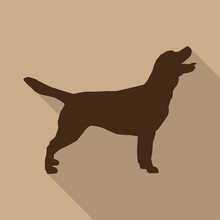 Icon Dog In Brown On A Biege B...