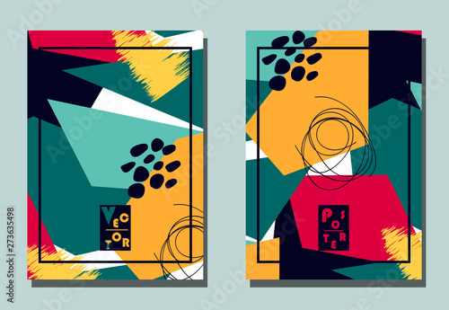 Cover with graphic elements - abstract shapes Canvas Print