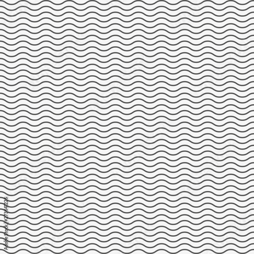 Cadres-photo bureau Abstract wave Black seamless wavy line pattern. Vector illustration