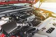 canvas print picture - car engine detail