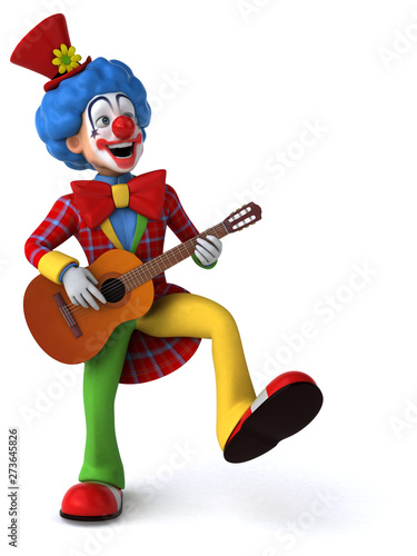 Fun clown - 3D Illustration - 273645826