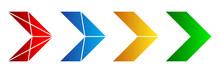 Set Of Color Arrows. Vector Illustration