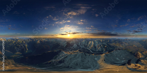 Poster de jardin Bleu nuit beatyfull aerial view of the alps