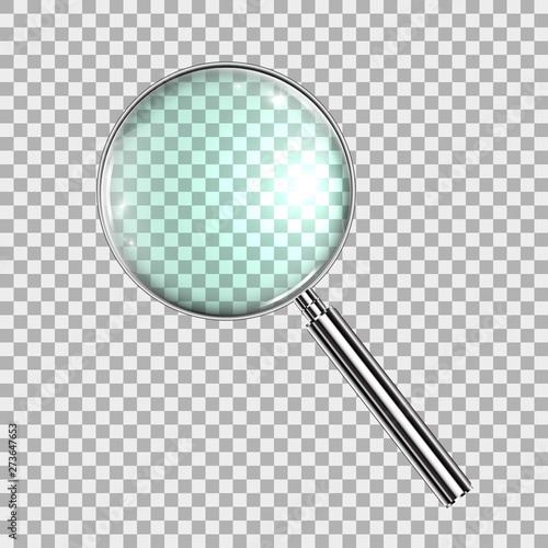 Valokuva Magnifying Glass, With Gradient Mesh, Isolated on Transparent Background, With G