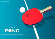 Ping Pong Poster Template. Tab...
