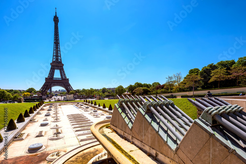 Landscape of Eiffel tower in Paris, France.