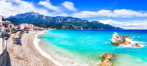 Greece summer holidays - Samos island and scenic Kokkari village with beautiful beach