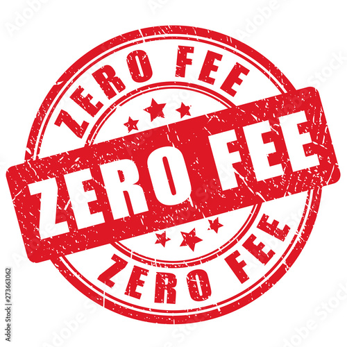 Cuadros en Lienzo Red grunge stamp zero fee