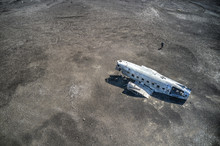 Aerial View Of Crashed Airplan...