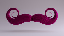 Big Pink Bushy Curly Mustache ...