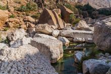 Massive Rocks In Wadi Tiwi, Oman