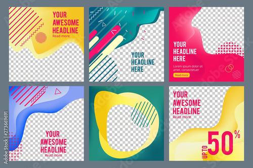 Obraz na plátně  Editable social banners