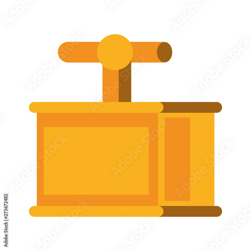 Papel de parede  TNT detonator box symbol isolated cartoon