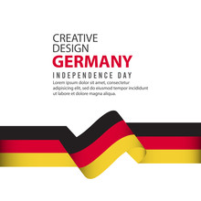 Germany Independent Day Poster Creative Design Illustration Vector Template