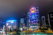 香港島 添馬公園からの夜景 曇天