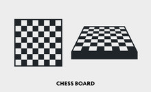 Chess Checkered Board Game. Vector Flat Line Icon Illustration.