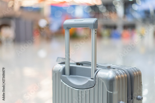 Fototapeta  luggage holder on suitcase or bag with TRAVEL INSURANCE ,traveling luggages in a