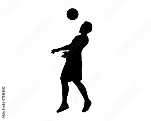 Fotografie, Tablou football player silhouette creative illustration vector of graphic , football pl