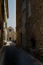 Alley With View Of The Albenga Cathedral