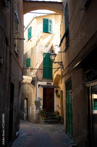 Photo Albenga street view, Italy.
