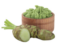Heap Of Wasabi Isolated On Whi...