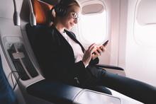 Hipster Girl Flight Passenger ...