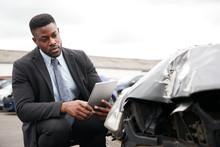 Male Insurance Loss Adjuster W...