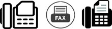 Fax Icon On White Background