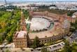 Leinwandbild Motiv Panoramic view of Plaza de Espana