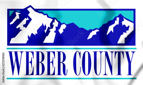 3D Seal of Weber County (Utah), USA Canvas Print