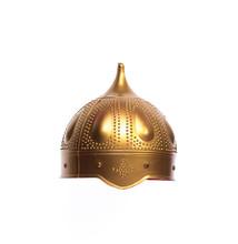 Golden Knight Helmet Isolated ...