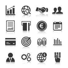 Set Of Business Icons, Management And Human Resources. Vector Illustration