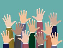 Raised Up Hands. Volunteering ...