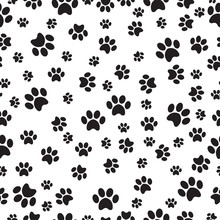 Paw Print Seamless Pattern On ...