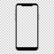 New version of black smartphone with blank screen. Vector illustration