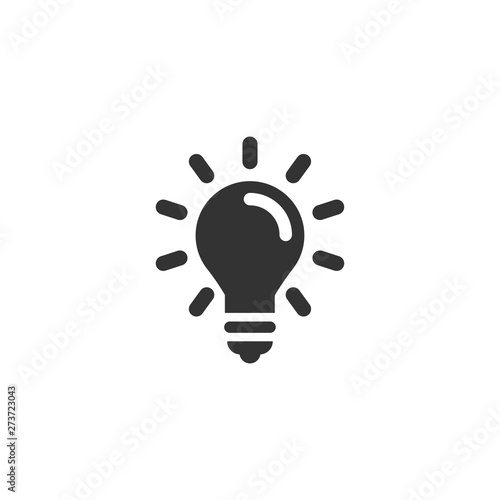 Fotografiet Light bulb icon in simple design. Vector illustration