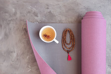 Yoga Mat, Mala Beads And Ayurv...