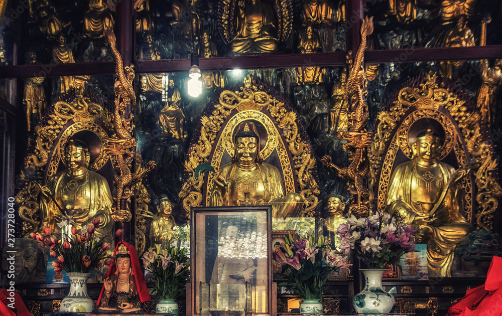 Fototapety, obrazy: Architectural details of the Qingyang Temple
