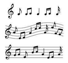 Music Notes Set. Vector Illust...