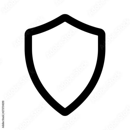 Obraz na plátně Shield simple icon. Vector illustration