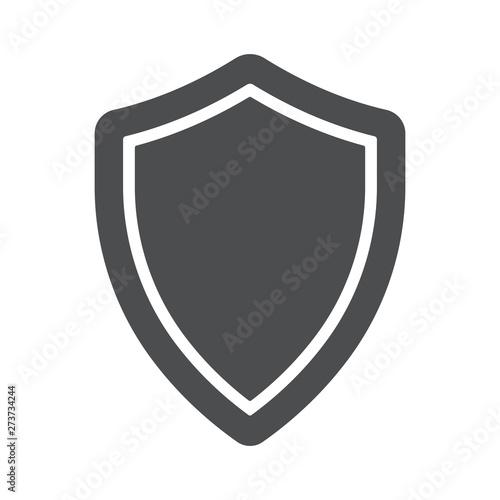 Fotografie, Obraz Shield simple icon. Vector illustration